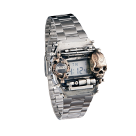 CASIO A158WA Customized with skull