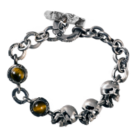 Links with stones and skulls